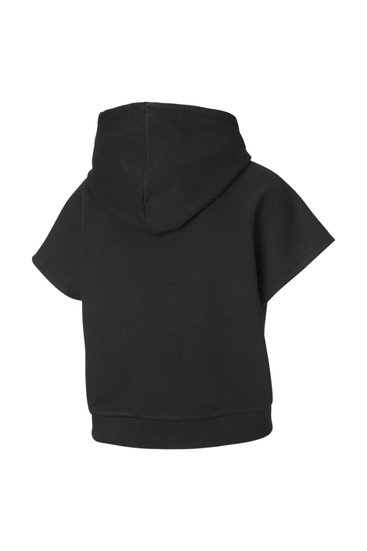 Puma Kadın Siyah Kısa Kollu Spor Sweatshirt 1
