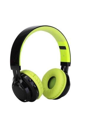 Zore Bt-005 Bluetooth Kulaküstü Kablosuz Kulaklık Led Işıklı Sporcu Çocuk Oyuncu Kulaklık Yeşil 0