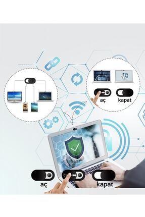 THREESTEP Pratik Web Kamera Kapatıcı - Ekstra Ince 0.7mm - Webcam Cover Gizliliğiniz Için Güvenli Kullanım 3