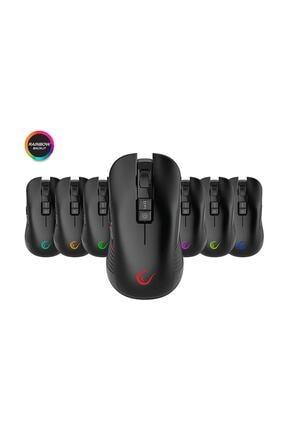 Rampage Smx-r20 Specter Kablosuz Siyah Gökkuşağı Renk Ledli Şarjlı Gaming Oyuncu Mouse 4
