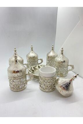SWORD Osmanlı Motifli Dekoratif Hediyelik 6 Kişilik Türk Kahve Seti 0