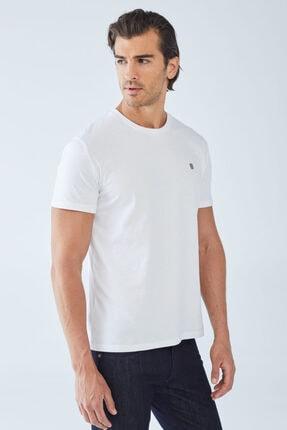 Boris Becker Erkek Beyaz Baskılı Basic T-shirt 0