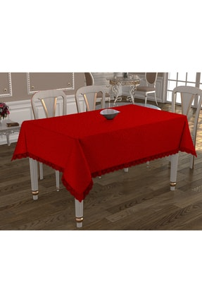 Çeyiz Diyarı Kdk Dertsiz Masa Örtüsü  - Kırmızı 1