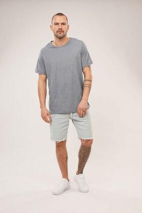 Carlamia Erkek Mavi Bisiklet Yaka T-shirt 1