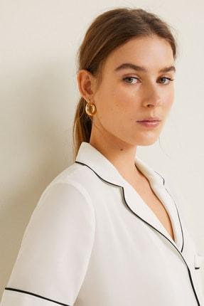 Mango Kadın Kırık Beyaz Bluz 43027720 4