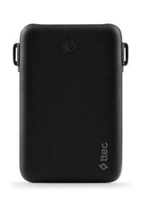 Ttec Recharger Duo+ Iphone Lightning Dahili Kablolu Taşınabilir Şarj Aleti / Powerbank Siyah 10.000mah 2