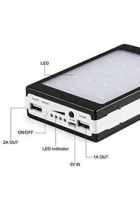 Carmenta Solar Powerbank 18.000 Mah - Güneş Enerjili - 20 Power Led Işıklı 1