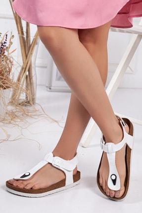 meyra'nın ayakkabıları Kadın Beyaz Klasik Sandalet 0