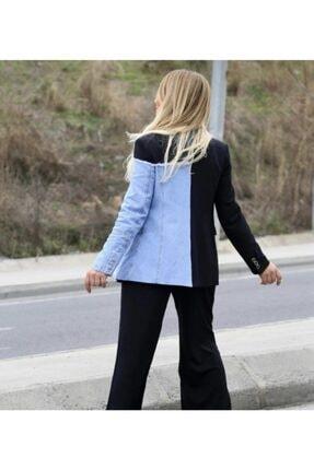 ceylinbutik Kadın Mavi Blazer Ceket 2