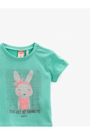 Koton Kız Çocuk Yeşil T-Shirt 2