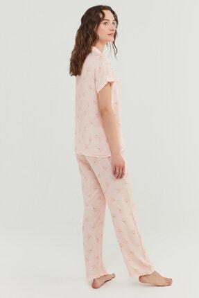 Penti Kadın Açık Pembe Pijama Takımı 4