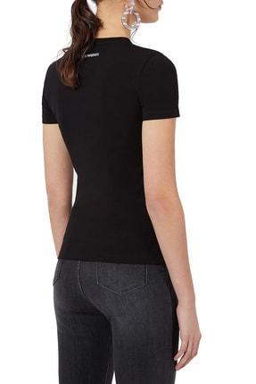 Emporio Armani Kadın Baskılı Bisiklet Yaka Pamuklu T Shirt 3k2t7n 2j07z 0999 1
