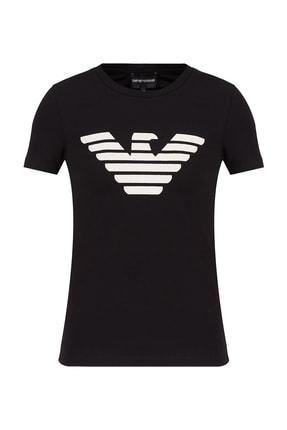 Emporio Armani Kadın Baskılı Bisiklet Yaka Pamuklu T Shirt 3k2t7n 2j07z 0999 2
