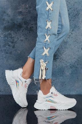 Dark Seer Kadın Beyaz Pudra Sneaker 4