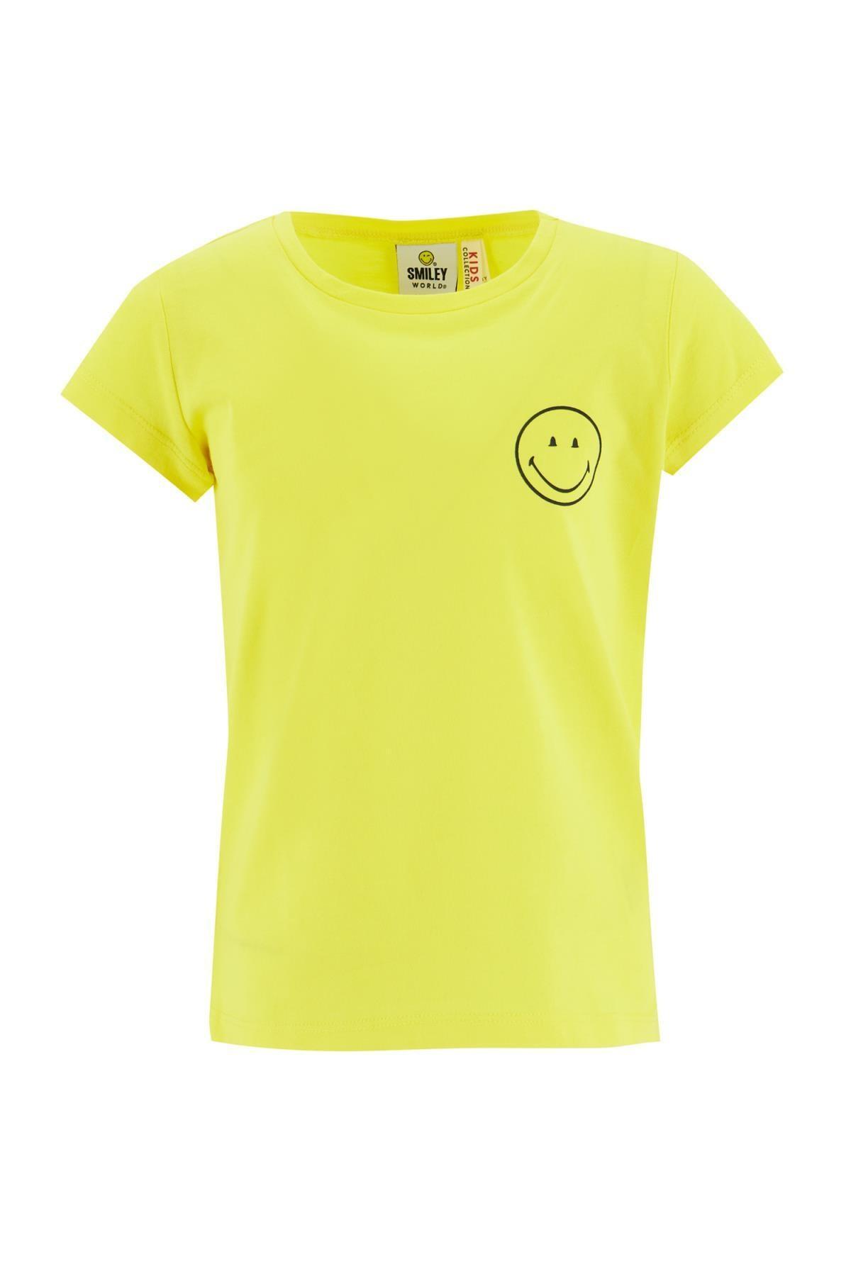 Defacto Kız Çocuk Smileyworld Lisanslı Kısa Kol Tişört 0