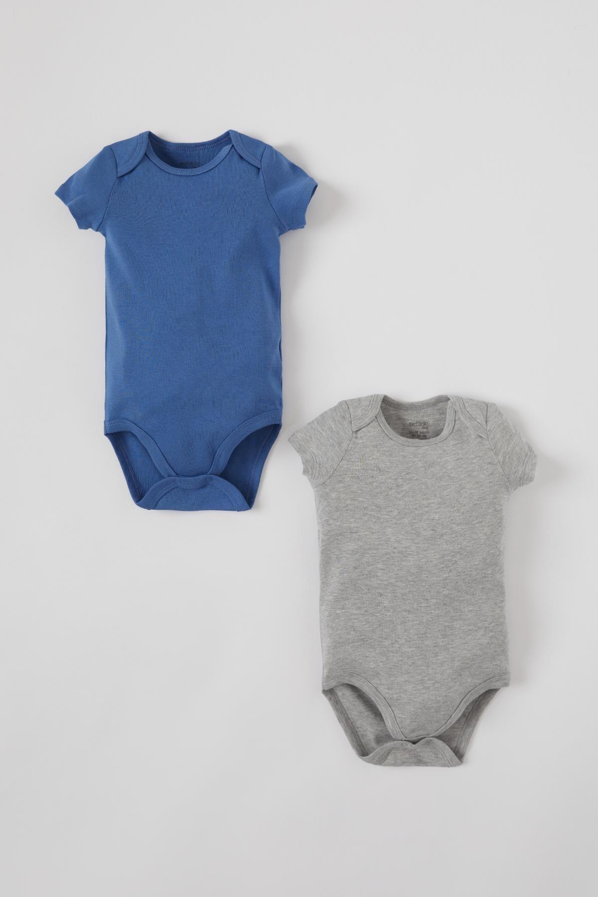 Defacto Erkek Bebek Basic Kısa Kol 2'li Çıtçıtlı Pamuklu Body 0