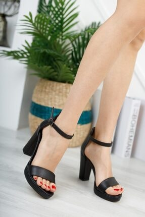 KILINÇ Kadın Siyah Platform Tek Bant Ayakkabı 2