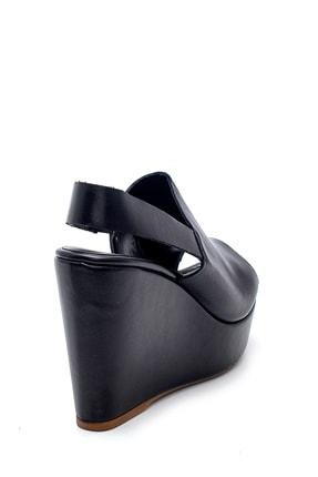 Derimod Kadın Siyah Deri Dolgu Topuk Sandalet 3