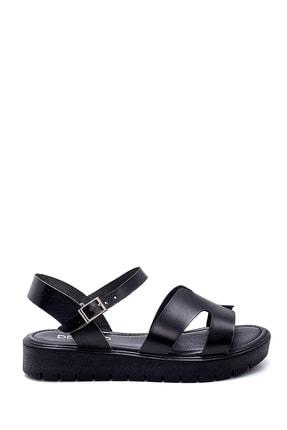 Derimod Kadın Siyah Deri Sandalet 0