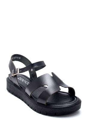 Derimod Kadın Siyah Deri Sandalet 1