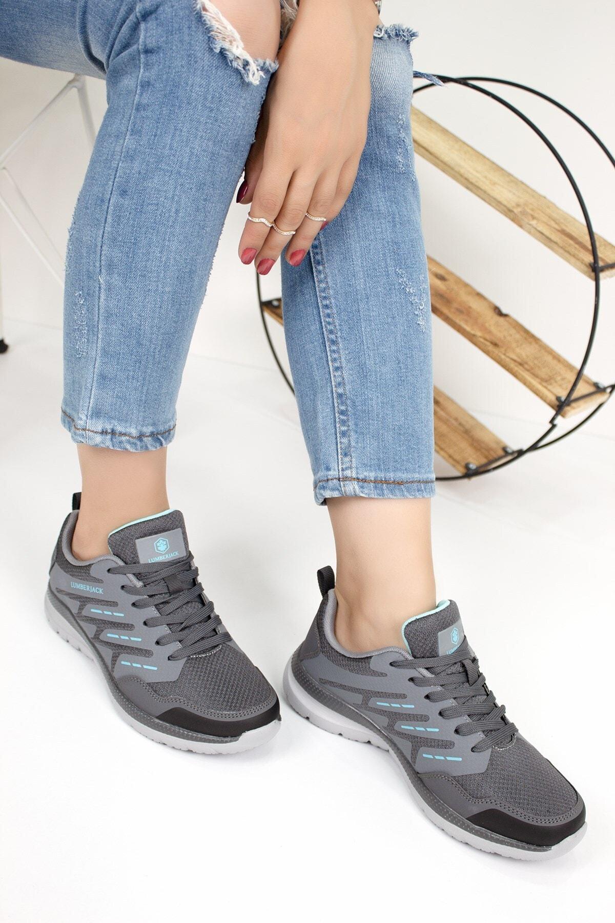 Lumberjack SELENA Gri Kadın Yürüyüş Ayakkabısı 100539025