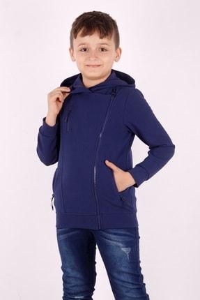 Picture of Erkek Çocuk Cepli Fermuarlı Asimetrik Kesim Hırka