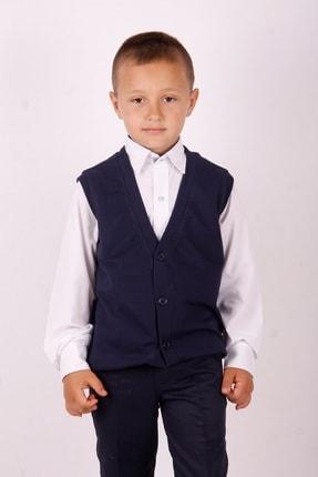 Picture of Erkek Çocuk Lacivert Düğmeli Okul Süveter