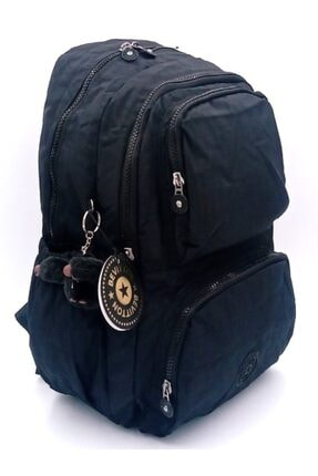 ÇantaExpress Unisex Siyah Krinkıl Kumaş Yeni Okul Ve Sırt Çantası 0