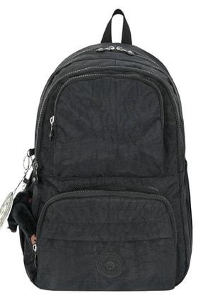 ÇantaExpress Unisex Siyah Krinkıl Kumaş Yeni Okul Ve Sırt Çantası 1
