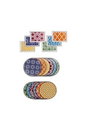 Porland Morocco 18 Parça İkram ve Kahvaltı Takımı 04+p021276 0