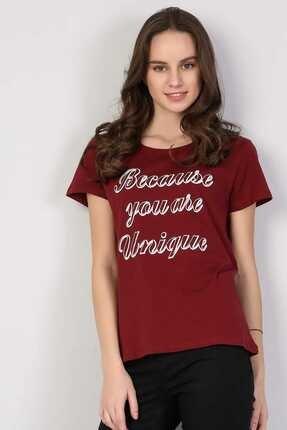 Colin's Bordo Kadın Tshirt K.kol CL1042619 0