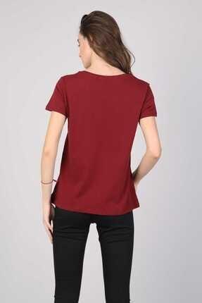 Colin's Bordo Kadın Tshirt K.kol CL1042619 1