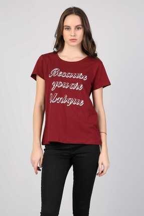 Colin's Bordo Kadın Tshirt K.kol CL1042619 3