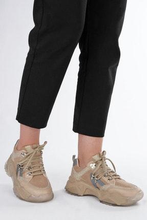 Marjin Kadın Bej Sneaker Dolgu Topuk Spor Ayakkabı Aletta 1