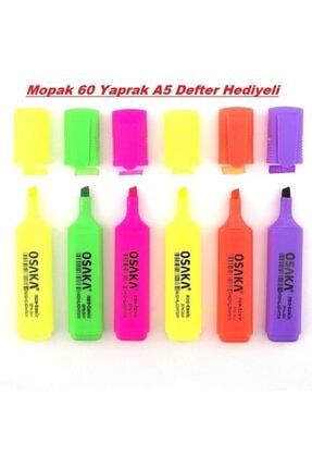 Osaka Fosforlu Kalem Canlı Renkler 6'lı Set 1