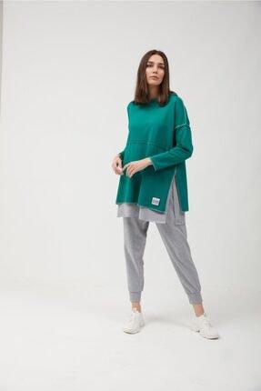 oia Yeşil Pamuklu Tunik Pantolon Takım Eşofman Takım 3