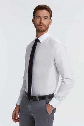 Hemington Erkek Beyaz Kuş Gözü Dokulu Non-ıron Business Gömlek 3