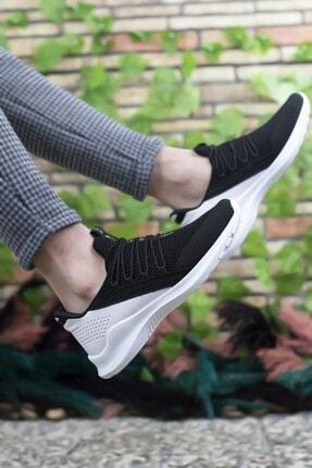 Riccon Siyah Beyaz Erkek Sneaker 0012180 1