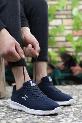 Riccon Lacivert Beyaz Unisex Sneaker 0012065 3