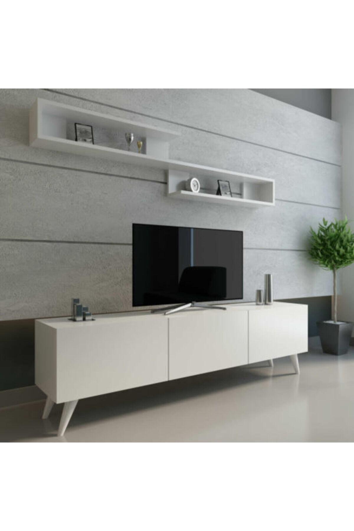 Dekormia World Tv Ünitesi 180 Cm Parlak Beyaz