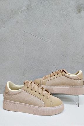 askurupon Kadın Ten Sneaker Ayakkabı 0