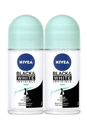 Nivea Invisible For Black & White Pure 50 ml 2 Adet Roll-on 0