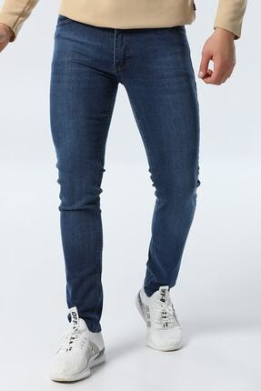 jocuss Erkek Mavi Slim Fit Likralı Pantolon 0