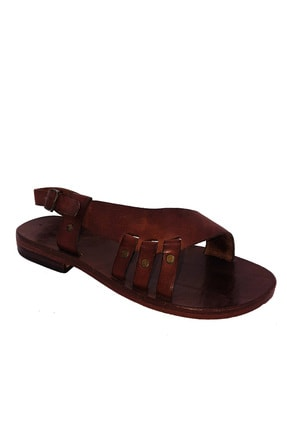 Kadın Kahverengi Düz Topuklu Sandalet 00