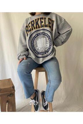 mekabutik Kadın Gri Berkeley Baskılı Seatshirt 2