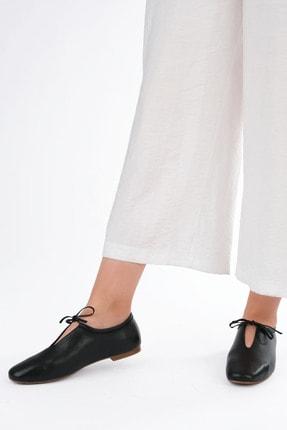 Marjin Kadın Siyah Hakiki Deri Günlük Ayakkabı Burlas 1