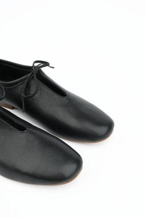 Marjin Kadın Siyah Hakiki Deri Günlük Ayakkabı Burlas 4
