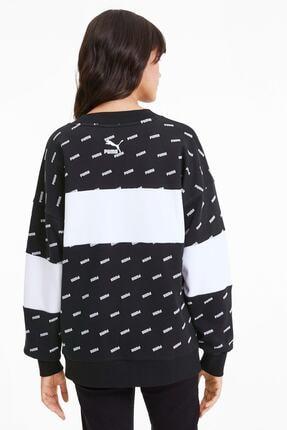 Puma Kadın Sudadera Crew Aop Logo Sweatshirt 1