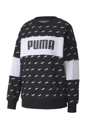 Puma Kadın Sudadera Crew Aop Logo Sweatshirt 3