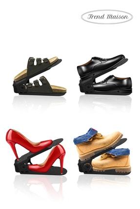 Trend Maison Siyah Yükseklik Ayarlı Ayakkabı Rampası Ayakkabılık 10 Adet 4
